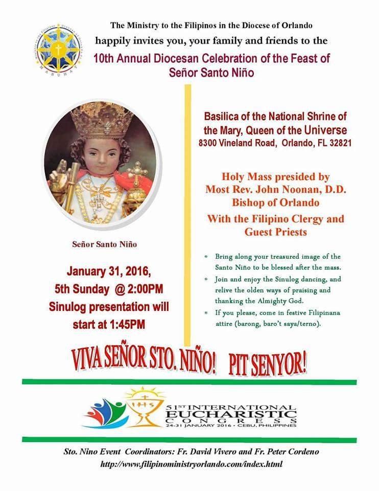 10th Annual Diocesan Celebration of the Feast of Senor Santo Nino