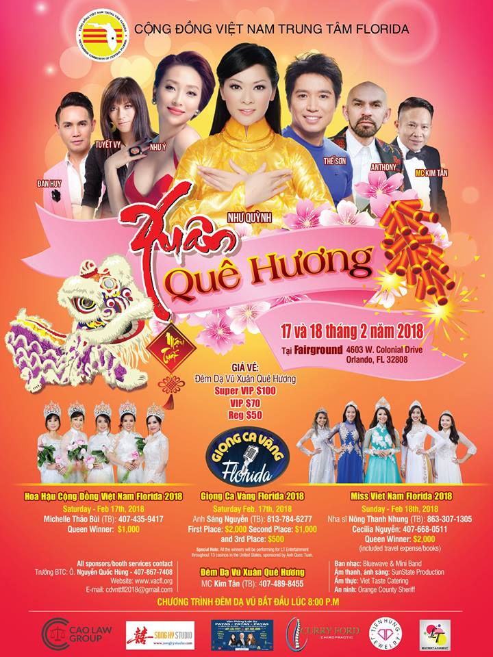Vietnamese Community of Central Florida 2018 New Year Festival