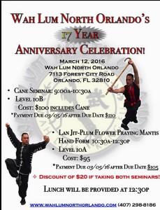 Wah Lum North Orlando's 17 Year Anniversary Celebration