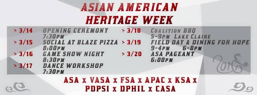 Asian American Heritage Week 2016 @ UCF