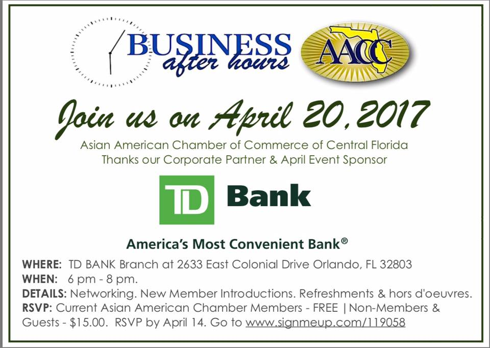 aacc td bank business after hours april asia trend