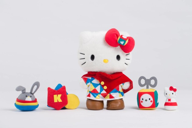 "10"" tall Ultimate Game Master Hello Kitty with magnetic accesorries inlcuding the mini chess, magic dice and the two head accessories"