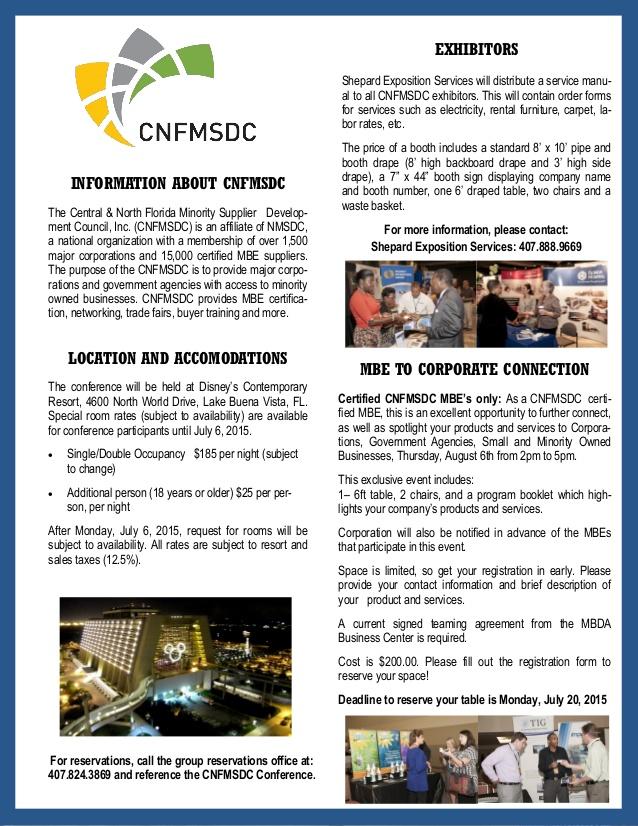 CNFMSDC Trade Fair- 2015