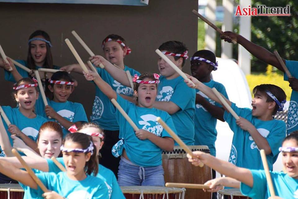 Montessori School of Celebration students performs the One Hundred Taiko Drummers