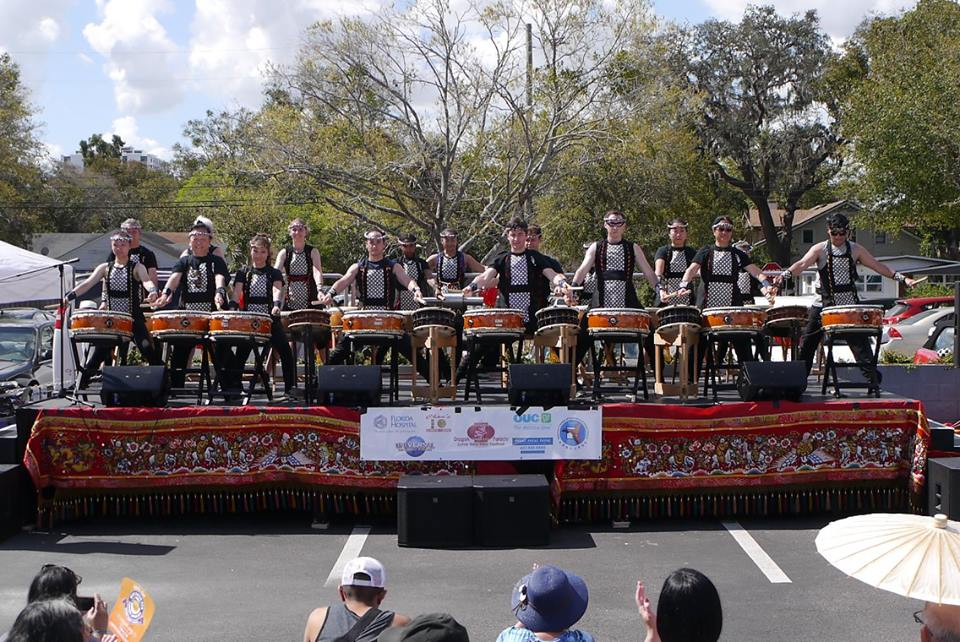 Orlando Taiko Dojo at the Dragon Parade 2018