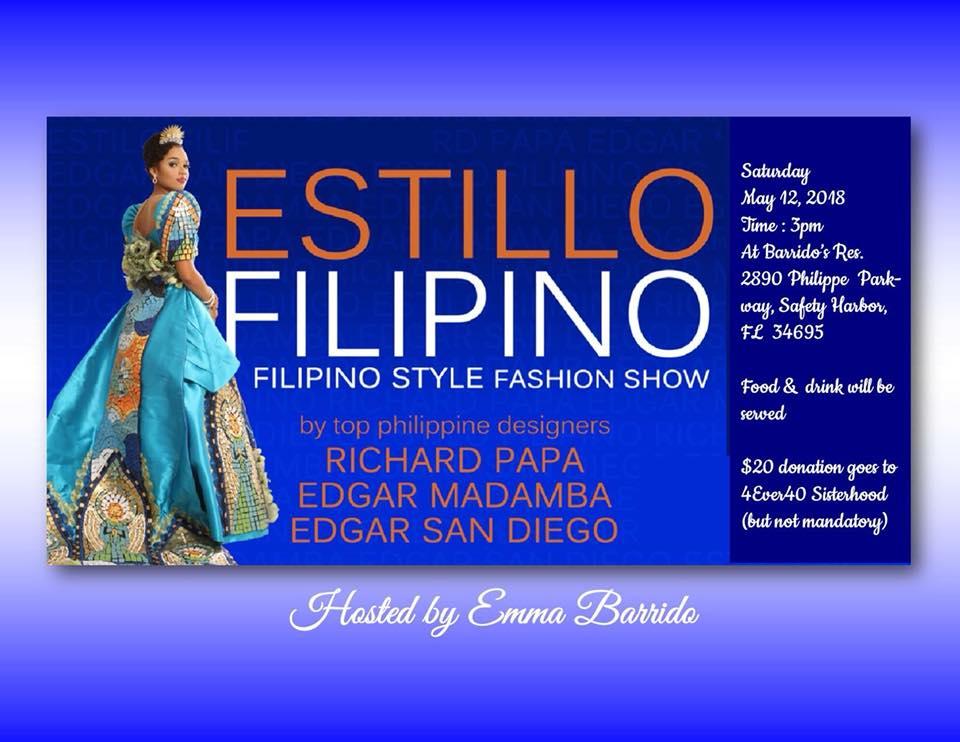 Filipiniana collection of Philippine designers EDGAR SAN DIEGO and RICHARD PAPA