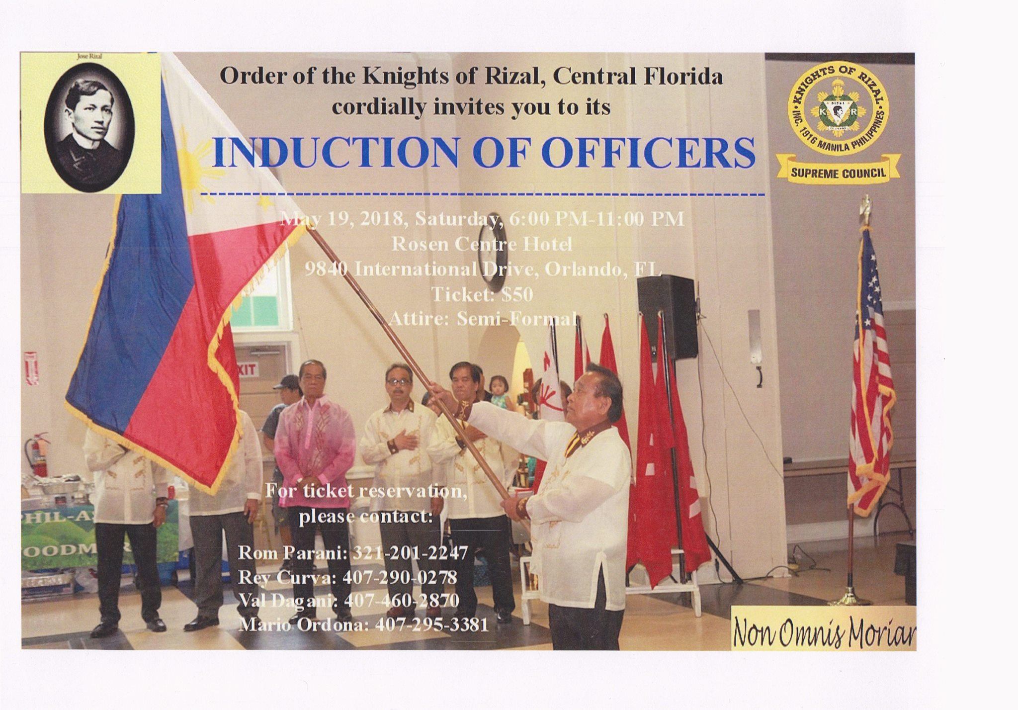 Knights of Rizal, Central Florida Chapter Induction of Officers
