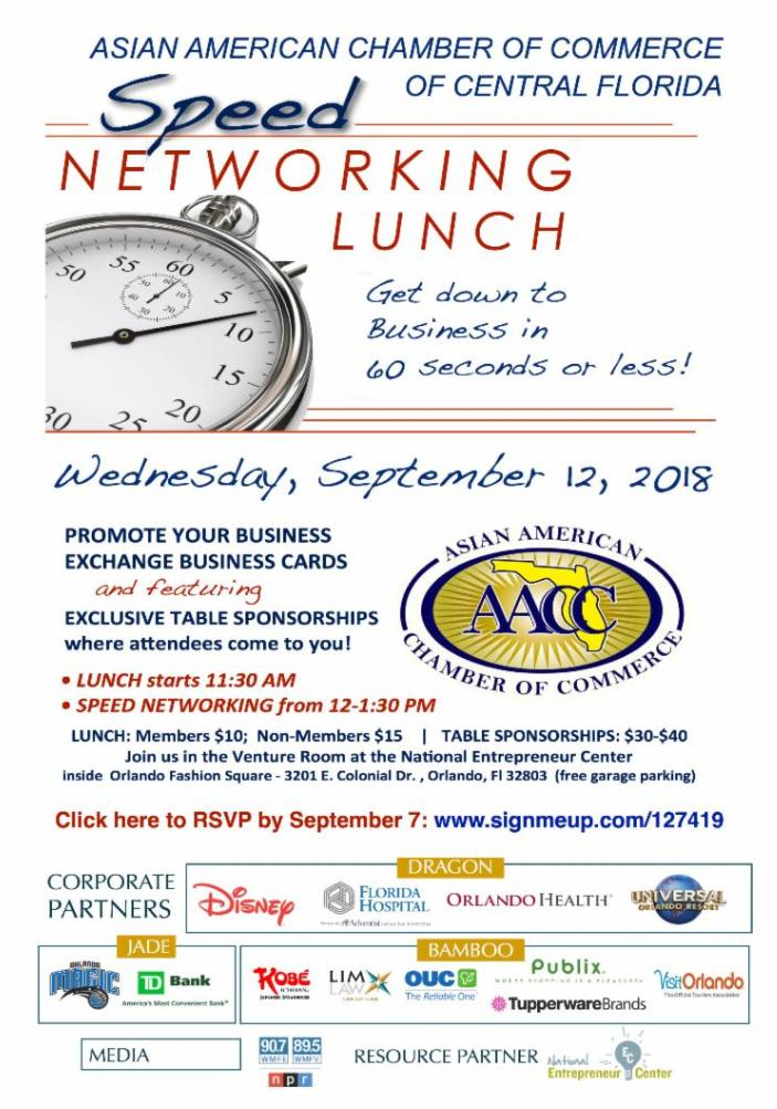 AACC SPEED NETWORKING LUNCHEON