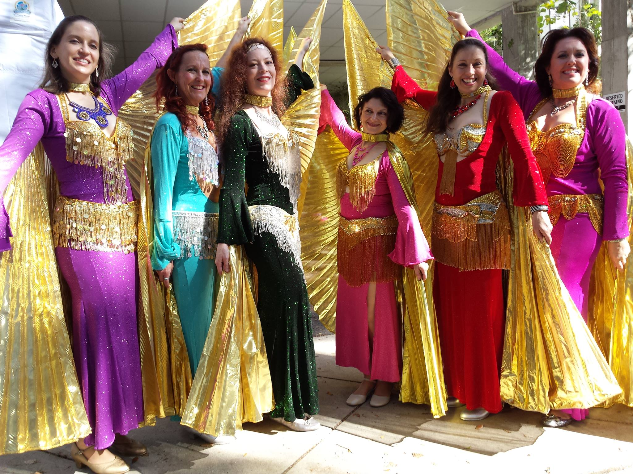 Performers of a traditional Mid-Eastern dance