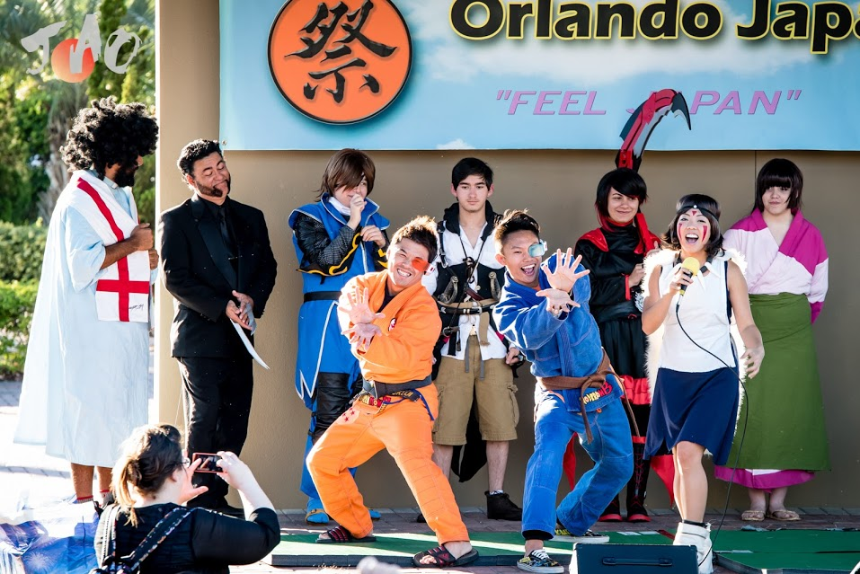 The 100-drummer Taiko drumming performance at the Orlando Japan Festival