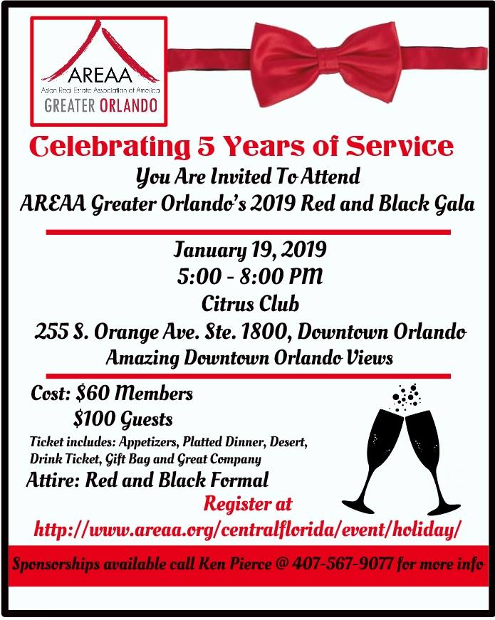 AREAA GO Red and Black Gala 2019