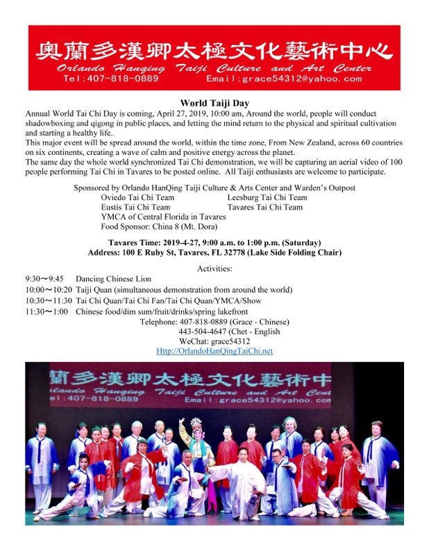 World Tai Chi Day in Tavares, Florida