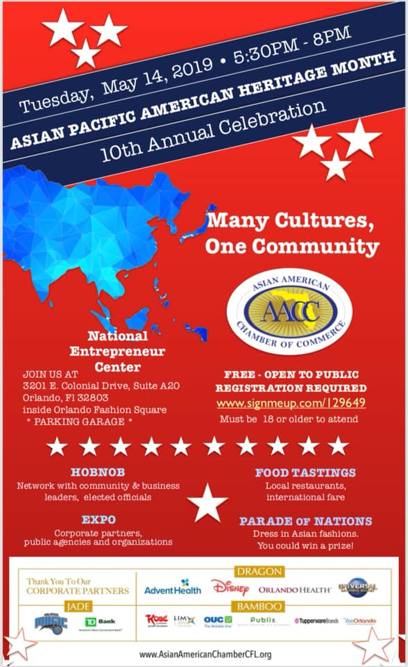 AsianAmerican Chamber Cfl Celebrating Asian Pacific American Heritage Month