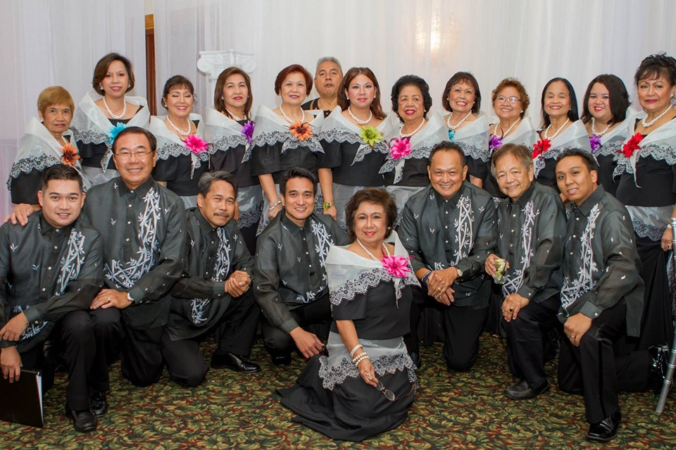 Some members of the Philippine Choral Group of Tampa with Connie Chanrasmi and the founder of the group, the late Olivia Santiano.
