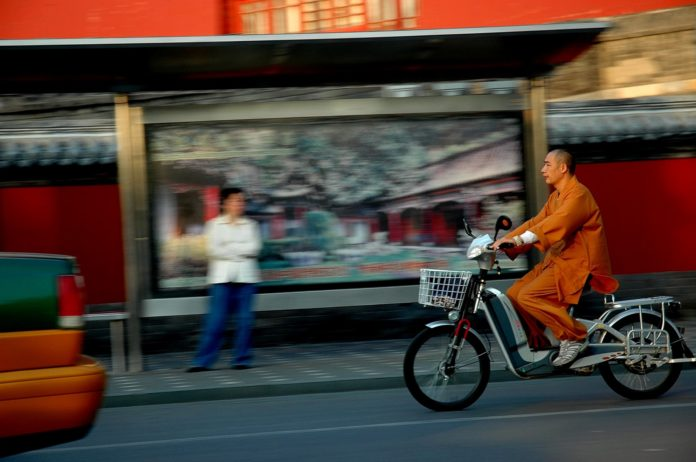 Chinese_Buddhist Monk Electric Bike