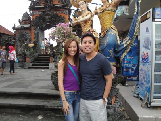 Ricky and May Ly at Uluwatu Temple
