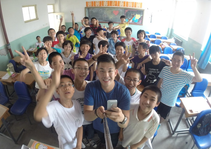 Mike Cho teaching in China