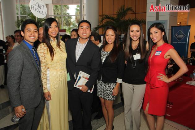 Don Nguyen, Bettina Tran, Ricky Ly, Kim Tran, June Wong, and Cecilia Nguyen
