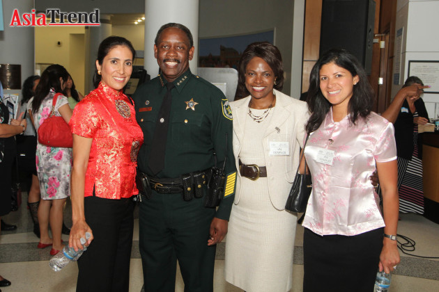 Monic Correa, Jerry Demings, Val Demings, and Iris Gonzalez