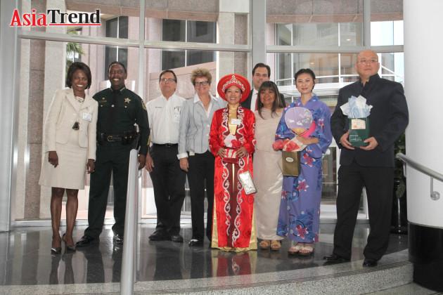 Asian Cultural Attire winners