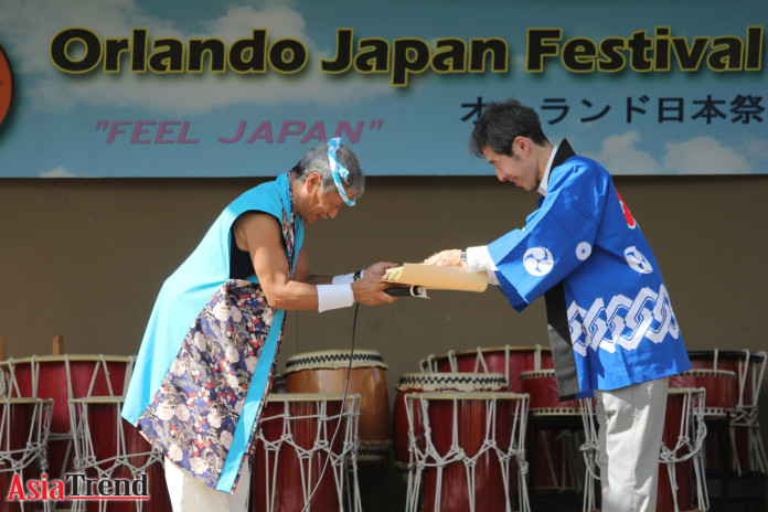 Taiko master Mr. Ishikura receives the Japanese Foreign Minister's Commendations 2015