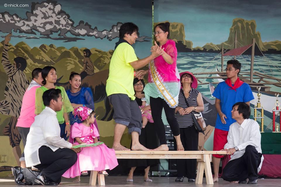 Miss Mrs. PhilFest 2015 Mrs. IUSA, Dali Allado, dancing Sayaw sa Bangko