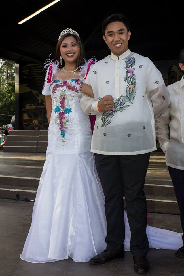 Miss Philippine Choral Group, Carissa Chanrasmi with her escort, Jeff Miraflor