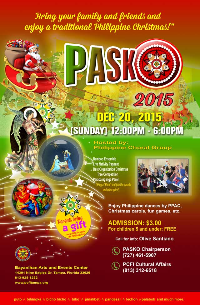 PASKO 2015: Filipino Christmas in Tampa Bay