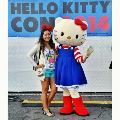 Tina Buadaeng and Hello Kitty
